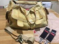 Storksak Sofia Tan Leather Changing Bag