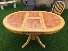 Extending table & 2 chairs