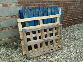 5 used pallets