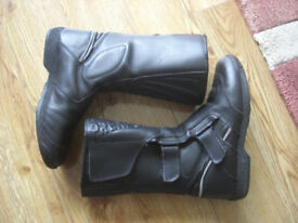 Leather Motorbike Boots.