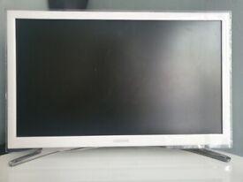 """White TV Samsung 22"""" Smart Tv"""