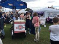 Traditional Icecream bike business for sale with two bikes & trailer, freezer, stock, storage