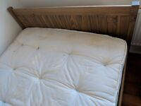 Double bed with/without mattress