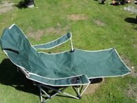 Fishing Chair with headrest, cup holders and leg rest £4