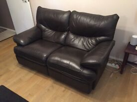2&3 seater part leather reclining sofas