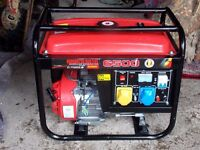 Honda Generator 6500 MINT CONDITION ONLY USED 6 X TIMES FROM NEW... LONDON COURIERS ARRANGED