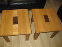 SOLID OAK TABLE'S X 2 TABLES EX+ CONDITION