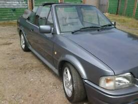 1990 FORD ESCORT 1.6 XR3I CONVERTIBLE