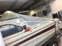 Boat cover spray hood rear canopy