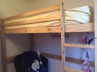 Loft bed frame pine