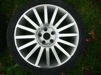 FORD MONDEO MK3 ST220 / ST ORIGINAL ALLOY WHEELS, WITH BRAND NEW HUB CAPS for sale  Barnet, London