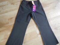 M&S Girls Grey School Bootleg Trousers Age 15 Plus Fit BNWT ----- fits UK Ladies size 12