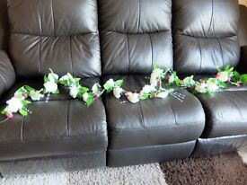 Wedding Accessories. Head Table. White silk garlands x 2