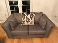 3 piece suite in grey including cushions