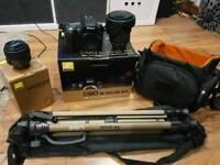 Nikon D90 DSLR CAMERA BUNDLE, 2 LENSES, TRIPOD, BAG