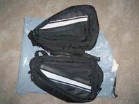 Textile motorcycle throwover luggage
