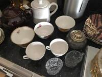 Massive collection of vintage china lots of plates, jugs, sugar and cream etc