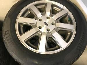 215/60/17 Firelli Tires+Rims 80%