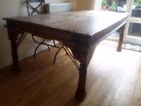 Antique Dining Table From Rajistan Seats Six