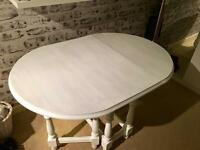 Shabby Chic Solid Wood Folding Dining Table (make me offers)