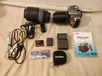 *CANON EOS 350D Digital Rebel XT / EOS Kiss Digital N camera complete with 2x lenses