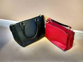 Bags red and black