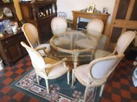 5 ft ROUND GLASS DINING TABLE