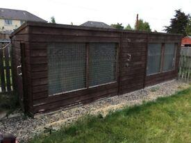 Large dog kennel 6x20ft