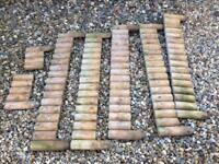Garden, lawn, flower bed edging log boarder