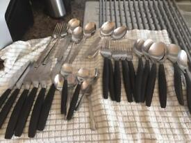 Cutlery mix spoons, forks, knifes