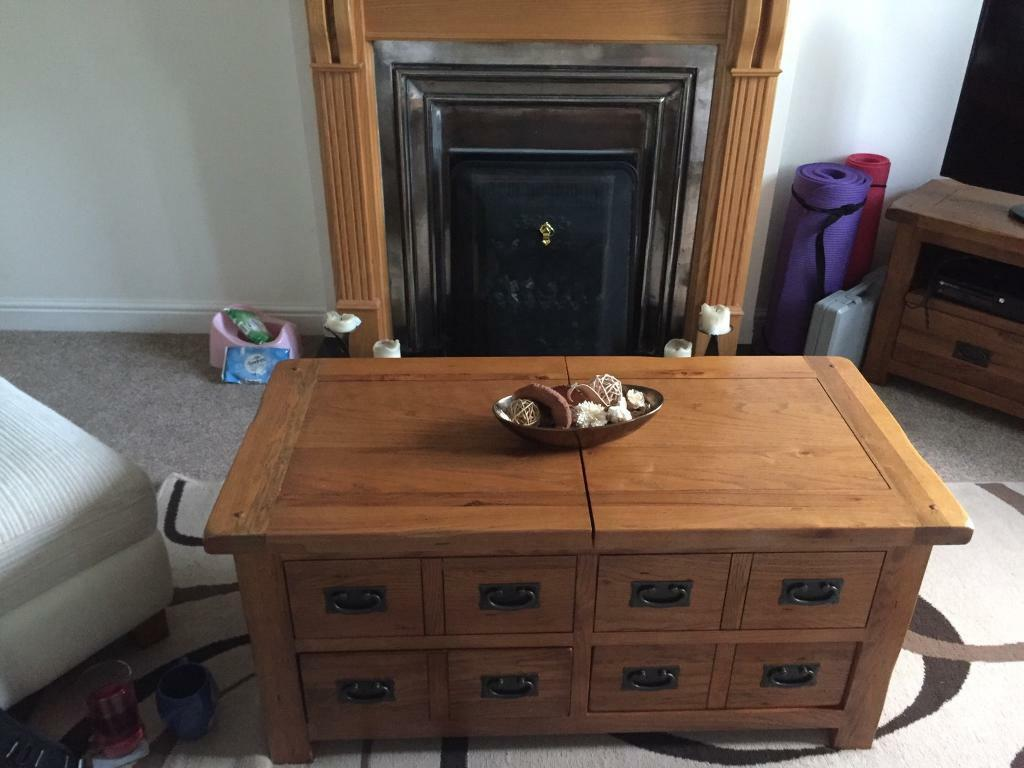 Harvey S Toulouse Coffee Table Solid Oak Worth 600
