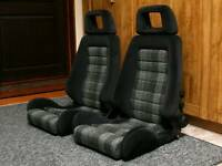 Recaro LS Classic Bucket Seats Genuine Recaro Retrimmed Mk1 Golf BMW E30 Ford Escort etc