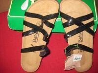 Brand new Birkenstock Betula black patent sandals - size 39