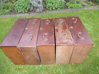 5 Mahogany vintage drawers with pretty brass fitting for up-cycling
