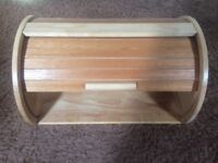 Bread Bin - New (Never Used) Wooden