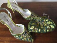 Fabulous designer shoes and dress bag Size 38