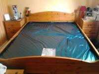 Beautiful bedroom furniture, 5ft, water bed- king, 2 bedsides, blanket box, dressing t, large mirror