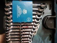 tools 12 piece ratchet spanner set