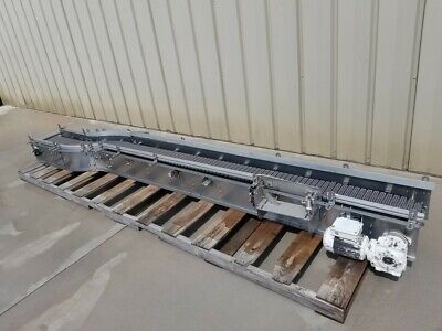 15 X 13 Long Stainless Powered Conveyor With Plastic Belting