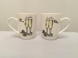 Wedding gift idea. Mr and Mrs mugs