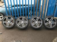 "*4 x 20"" Mam German Diamond Cut Alloy Wheels With New Tyres 5x120 - VW Transporter Bmw Range Rover*"