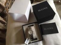 Brand new Bulova Ladies Women's Designer Diamond Watch Bracelet - Stainless Steel Highbrid £150