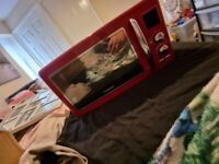 Red microwave BRAND NEW