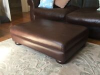 Real leather foot stool/rest