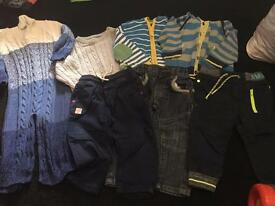 12/18 months jumpers jeans used good condition