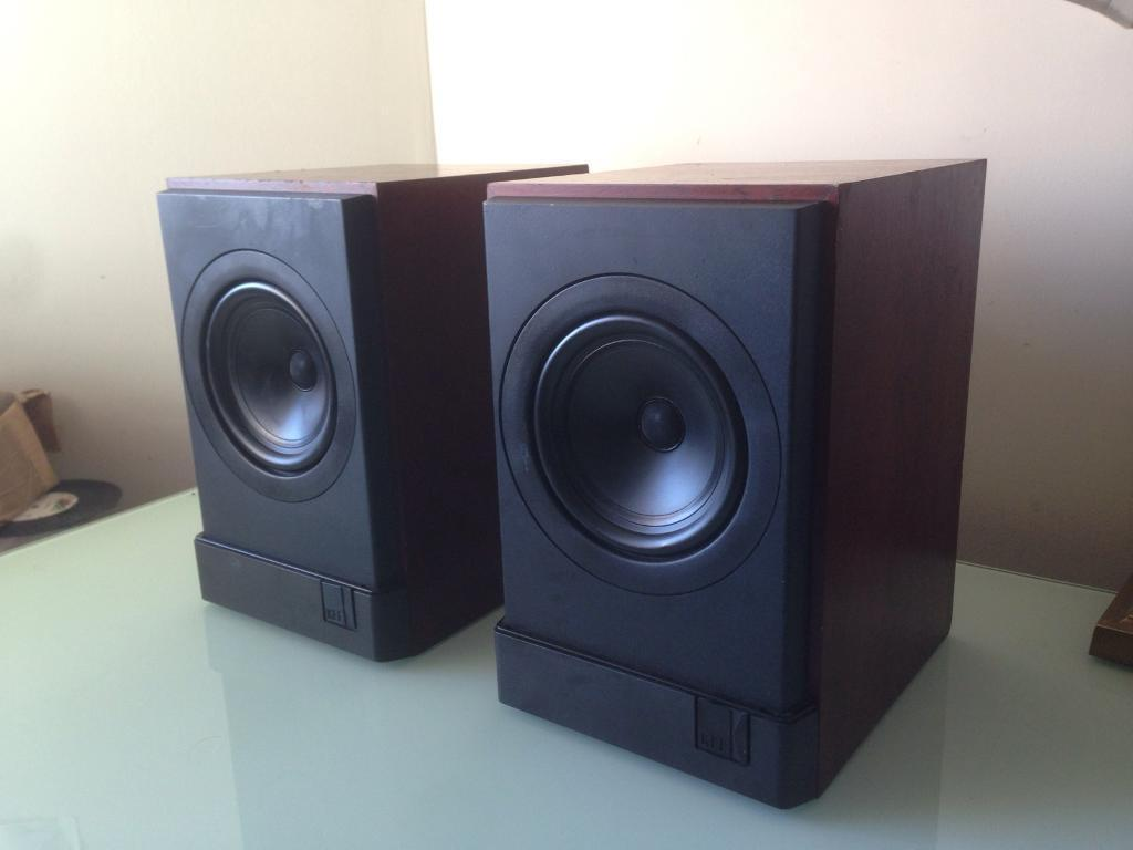 pair walnut kef in bookshelf direct speakers speaker