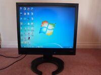 """SMART iiyama 19"""" 4:3ratio TFT monitor COMPUTER SCREEN & WARRANTY"""