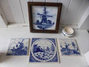 DELFTS /DELFT BLUE TILE COLLECTION/BOWL*HAND PAINTED HOLLAND Benowa Gold Coast City Preview
