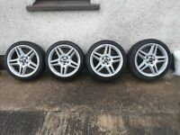 Mercedes AMG stagered Alloy wheels R18