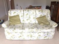 3 Piece Suite for sale. 3 seater sofa, 2 armchairs & stool set.